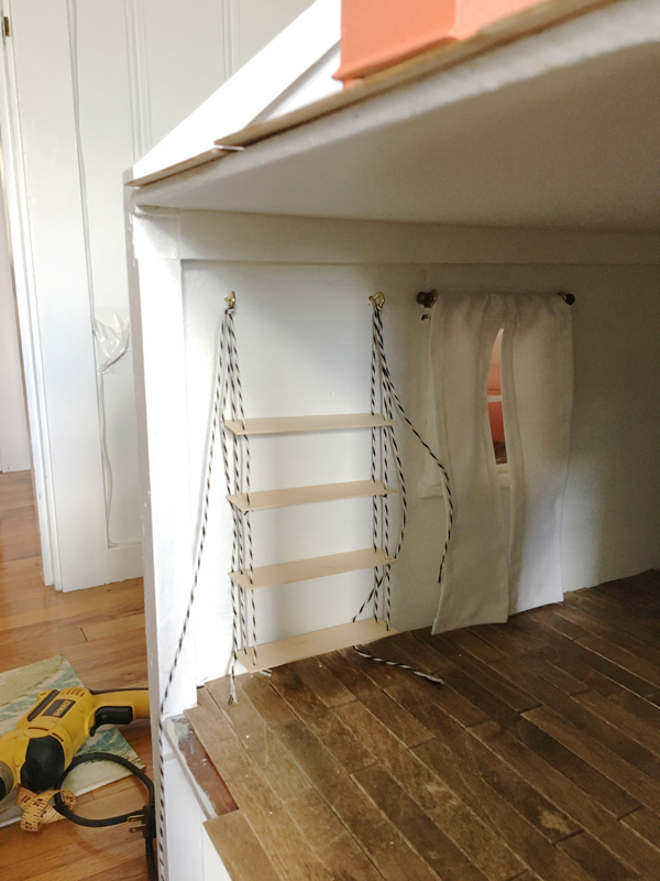 Dollhouse hanging shelves -- Plaster & Disaster