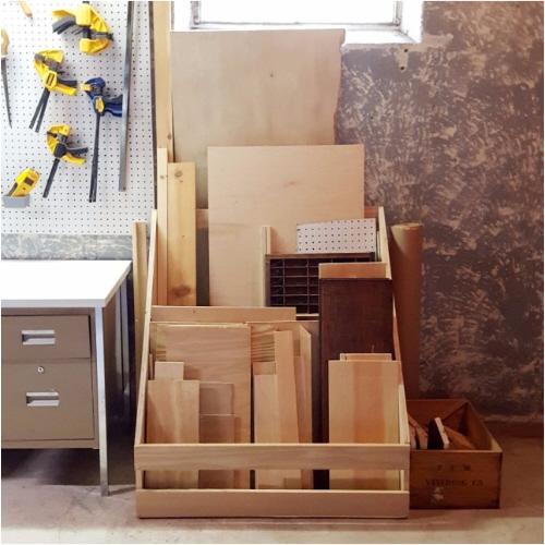 Scrap Wood Storage Rack Out Of Scrap Wood Plaster