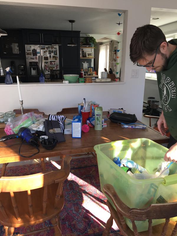 organizing under the bathroom sink -- Plaster & Disaster