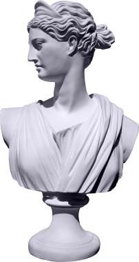 Diana Bust Plaster Statue