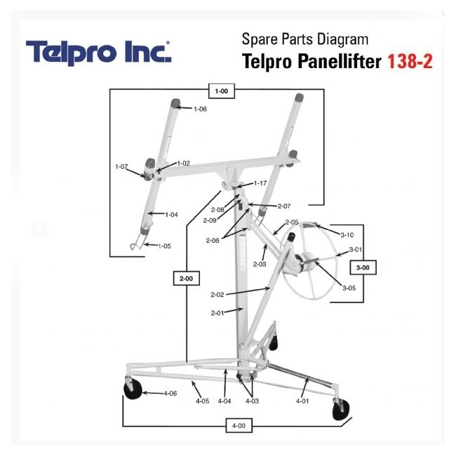 Telpro PanelLifter 00-186-03 Cable For Extension