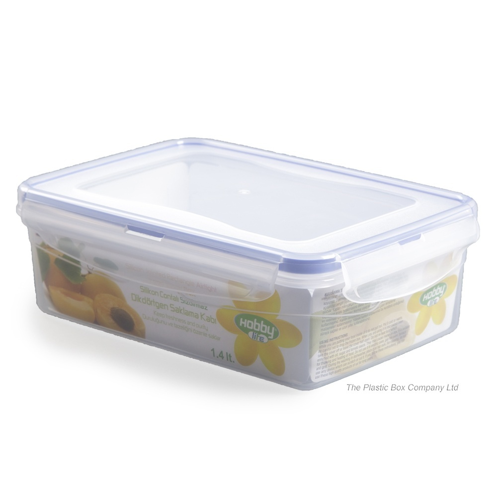 Buy 14lt Hobbylife Plastic Storage Box With Clip On Lid