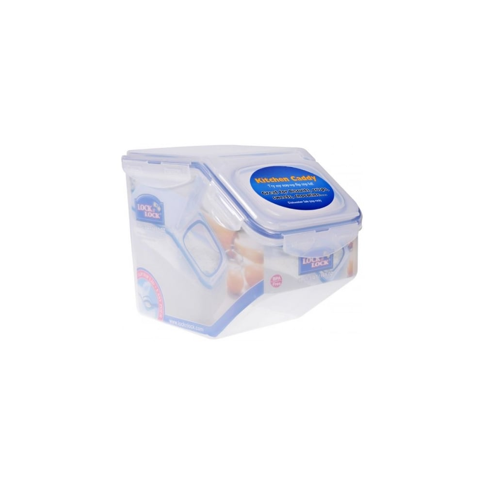 kitchen caddy draining board buy lock 5 litre plastic storage for cereal rice flour with flip top lid