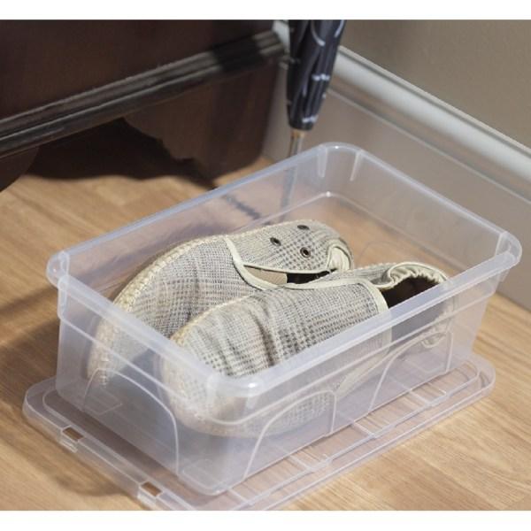 Plastic Shoe Box Storage Containers