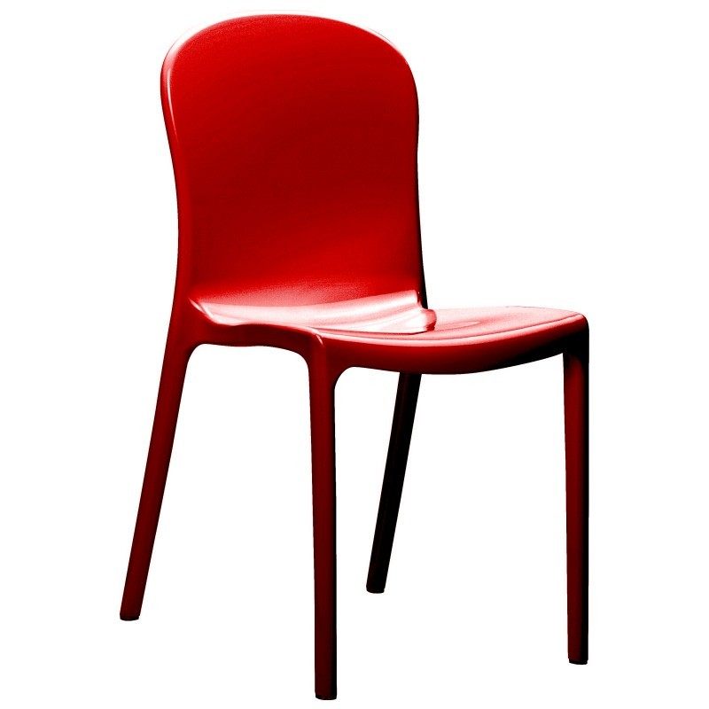 Siesta Victoria Glossy Plastic Dining Chair Red ISP033