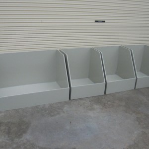 Chemical containment boxes for aquatic centre