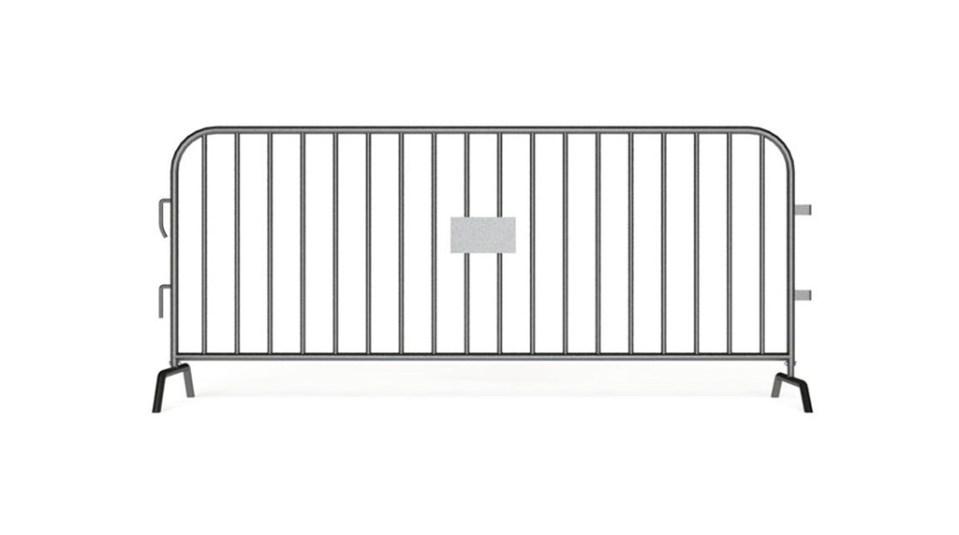 Steel barrier with bridge bases