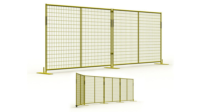 Temporary panel barrier