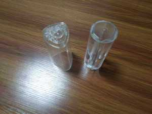 Transparent plastic molding parts