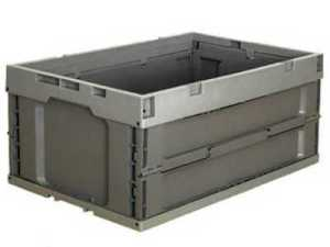Collapsible crate mould