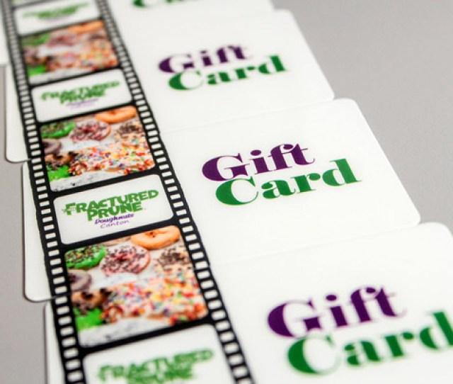 Example Of Custom Gift Card For Restaurant Named Fractured Prune