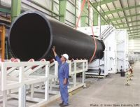 Large diameter pipe extrusion line able to produce 2,500 ...
