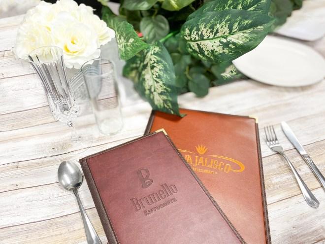 Formal restaurant menu