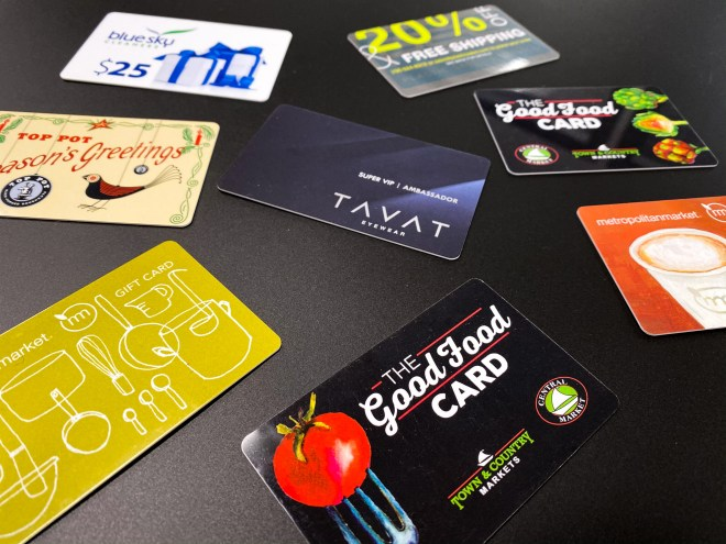 Gift card products