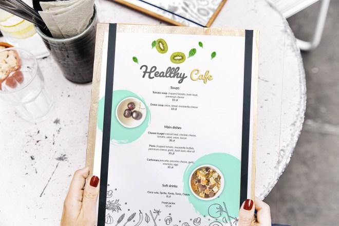 Wood board menu mock up