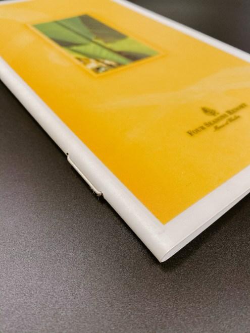 waterproof menu covers with string insert