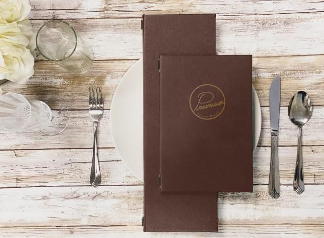 brown premium menu color