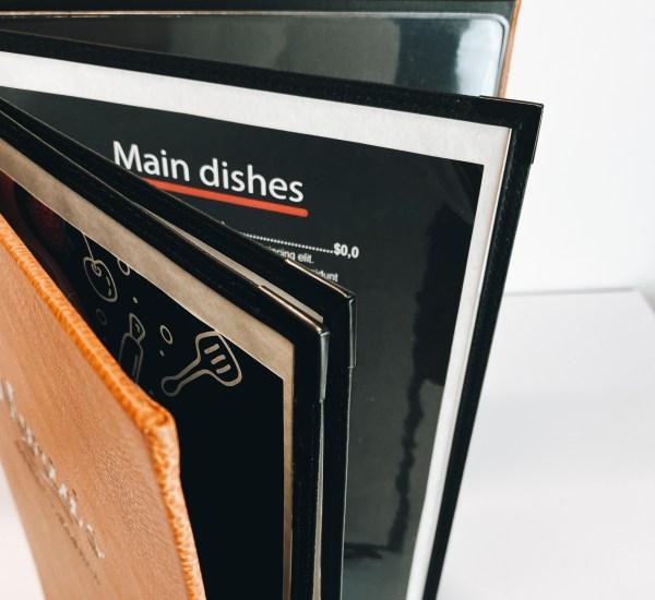 menu insert