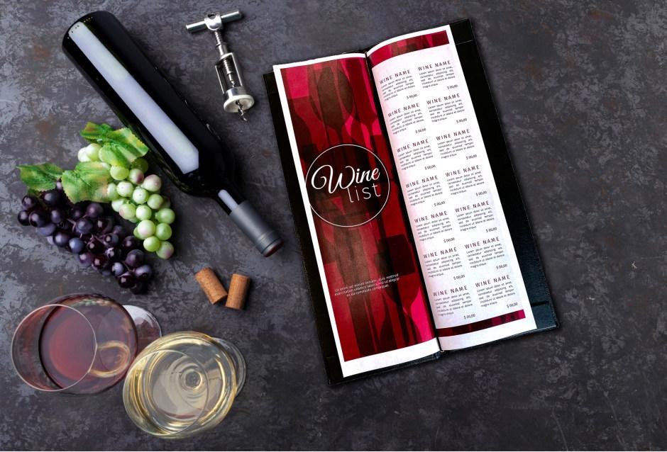 Wine list binding and insert options