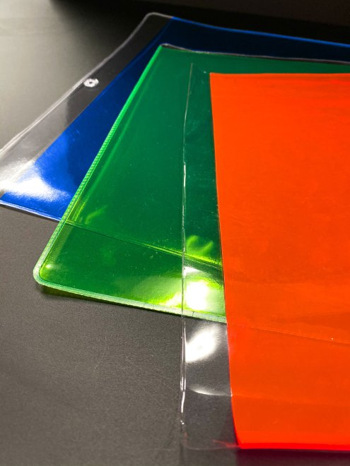 Fluorescent vinyl envelop