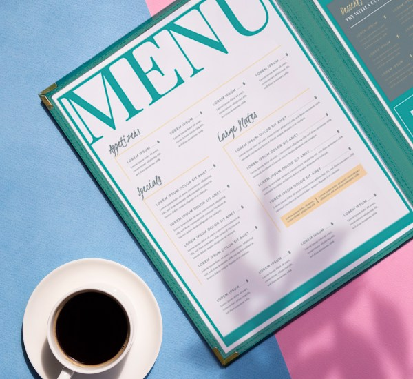 cafe menu cover