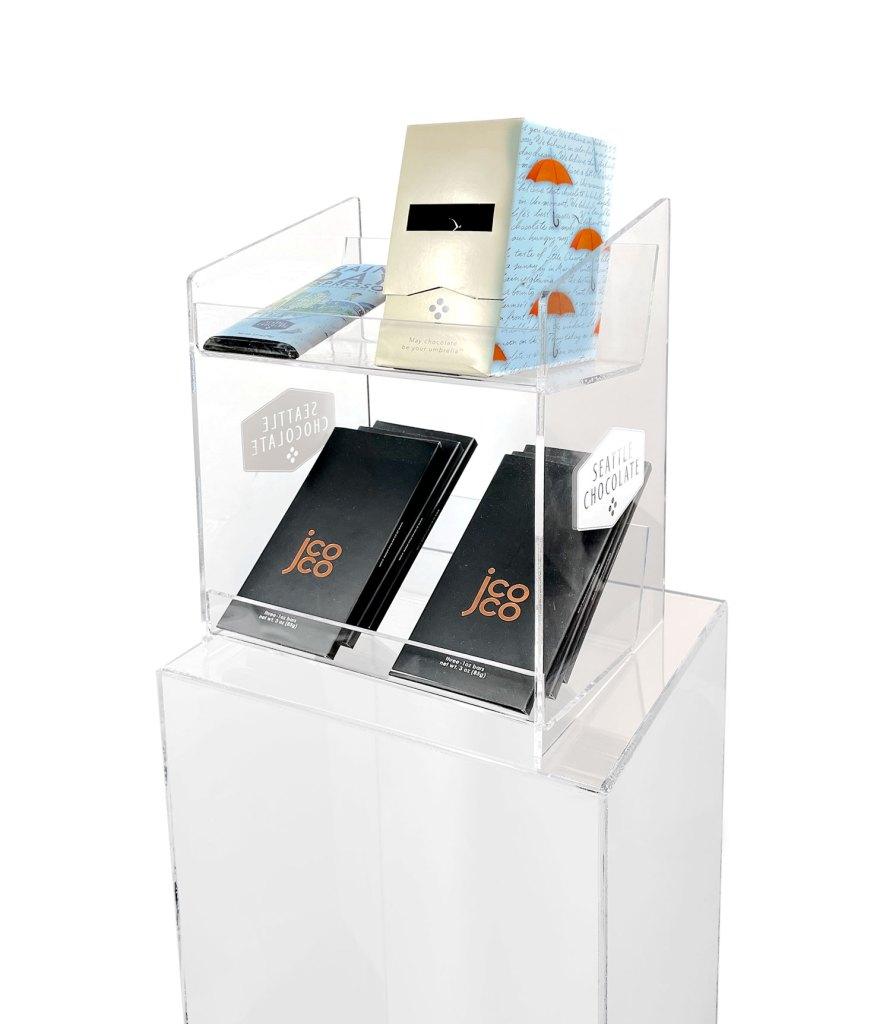 Custom chocolate pop display