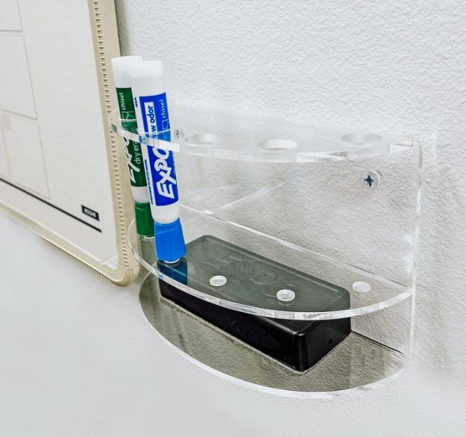 acrylic maker holder mounted wall