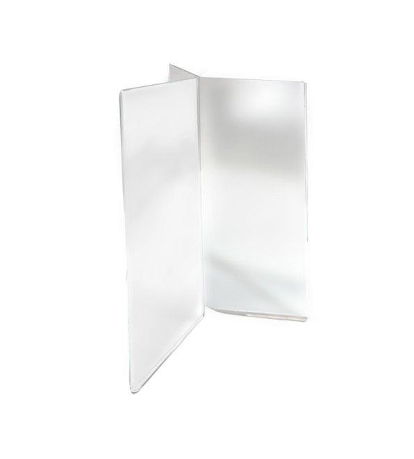 6 view acrylic sign holder