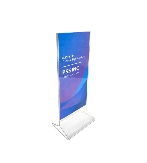 Triangle stand sign holder