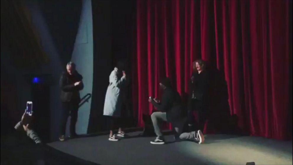 Idris Elba proposes to Sabrina at Yardie screening