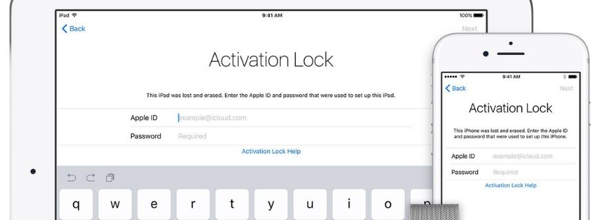 iPad & iPhone Activation Lock