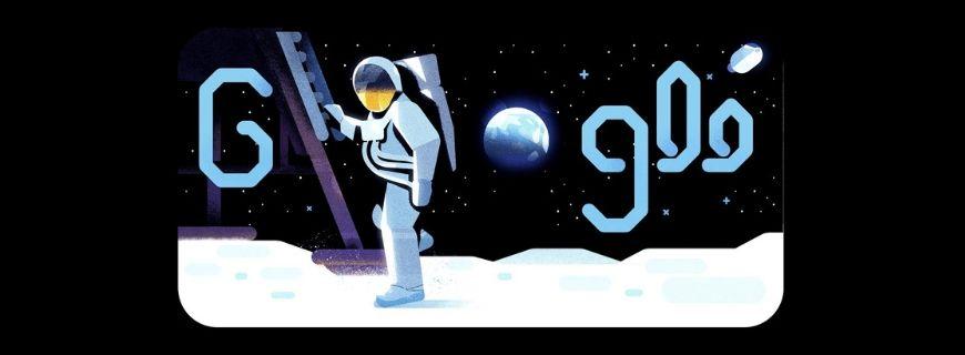 Google doodle Apollo 11