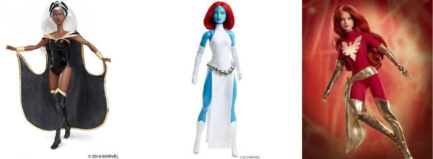 X-Men Barbie Dolls