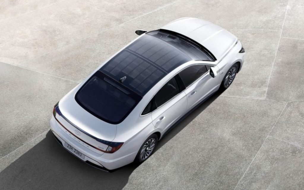Hyundai Solar Panel Roof car
