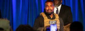Kanye West Breaks Down In Tears During His First Official Presidential Campaign