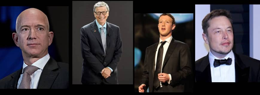 Jeff Bezos, Bill Gates, Mark Zuckerberg and Elon Musk, the top four richest men in the world lost a combined $25 billion as tech stocks fell
