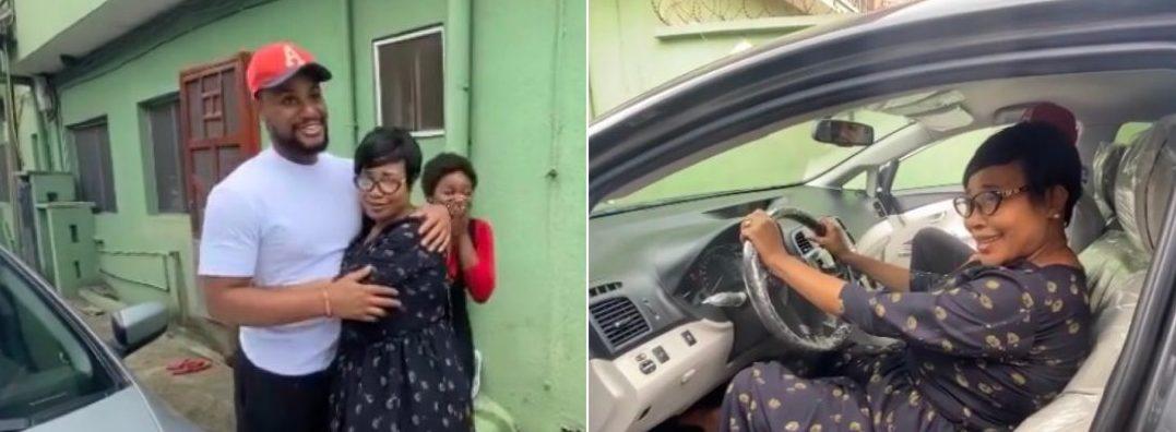 Alexx Ekubo Buys His Mum A Car To Celebrate His Chieftaincy Title