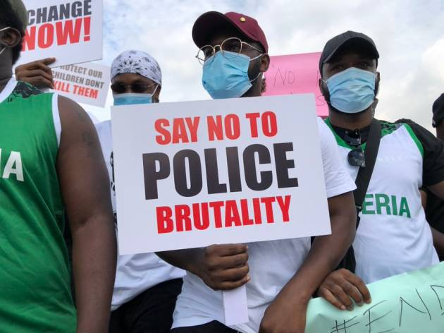 #EndSARS: Runtown, Falz, Tiwa Savage Lead Hundreds To A Peaceful Protest In Lagos
