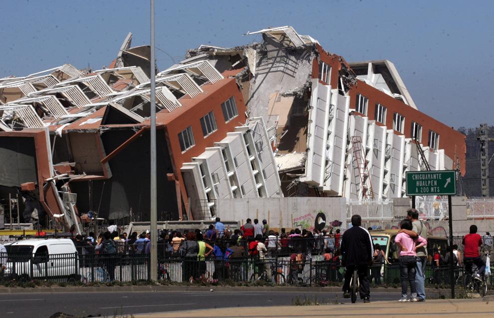 Edificio en Concepción, 15 pisos....  (AP Photo)