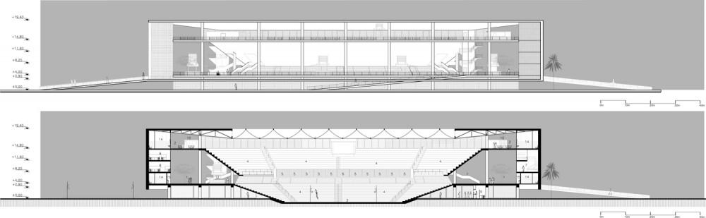 estadio de marinos de anzoátegui fachada corte