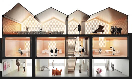 Primer Lugar Concurso Rehabilitacin Casa de la Msica en Gran  Planos de Casas Gratis