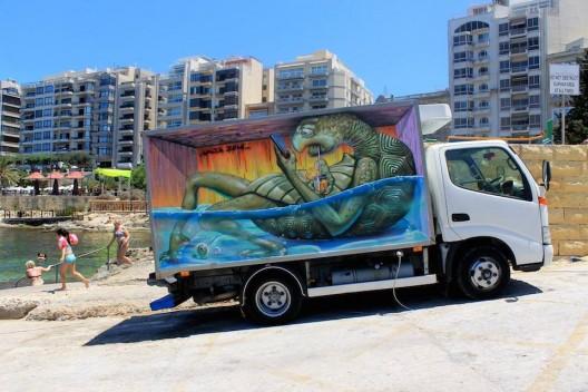 por Wild Drawing en Festival de Arte Urbano en Sliema, Malta
