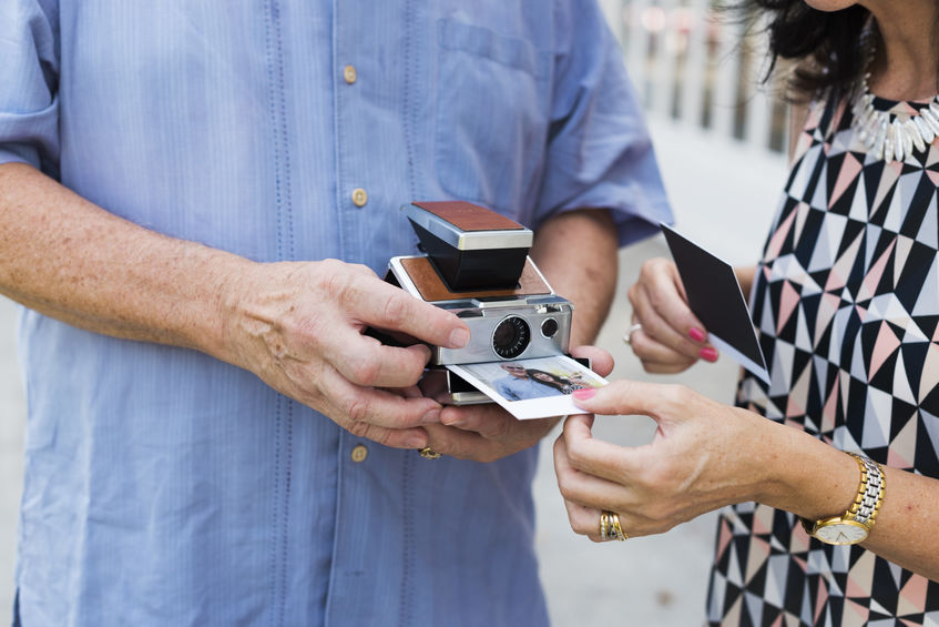 viewing instant camera pictures