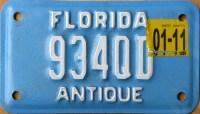Florida Antique Plate & Vine Florida 1966