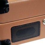 Pyle PVTT2UWD Platine Tourne-disque avec Courroie Rétro USB/Batterie Rechargeable Marron