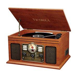 Victrola Classic Chaîne Stéréo 6-in-1 Platine Vinyle – Acajou