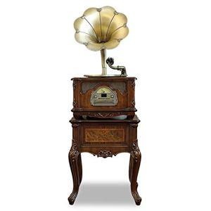 GOM Platines Vinyles, Vintage Phonographe Tourne Disque Conversion avec Trois Vitesses 33/45/78 Tours Soutien Port USB Lecture Bluetooth Lecture de CD Sortie Audio GOM-013