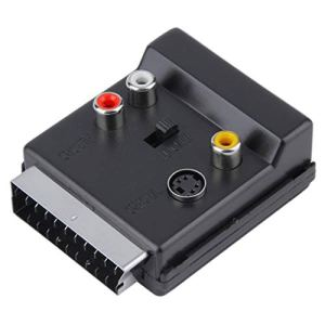 Newest Switchable Scart Male to Scar Female S-Video 3 RCA Audio Adapter Convector free shipping