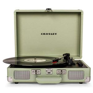 Crosley Cruiser Deluxe Vintage 3-Speed Bluetooth Suitcase Turntable, Mint