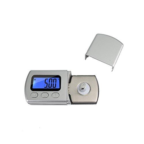weilifang Stylus Turntable numérique Force de l'échelle Rétro-éclairage Turntable jauge 5 g / 0.01g Bras de Charge Compteur Bleu rétro-éclairage LCD pour Tonearm Phono Cartridge